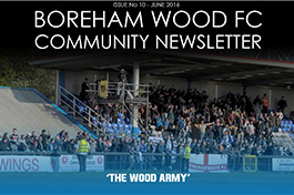 Boreham Wood FC community news letter front page