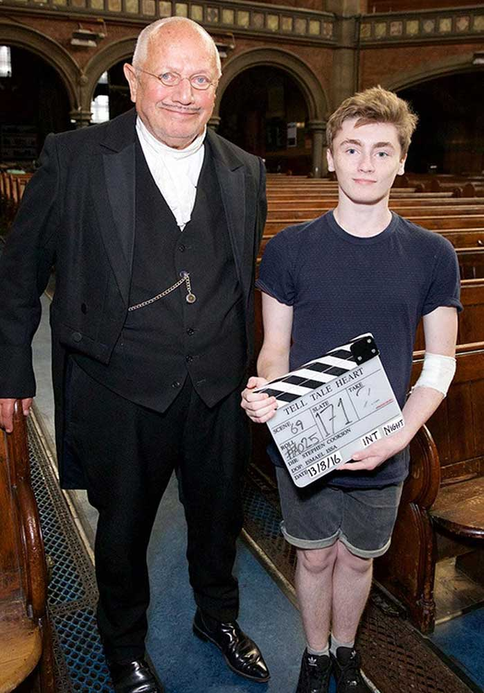 SERIOUSLY ILL TEEN GETS EXCLUSIVE ACCESS TO SET OF STEPHEN BERKOFF'S NEW FILM
