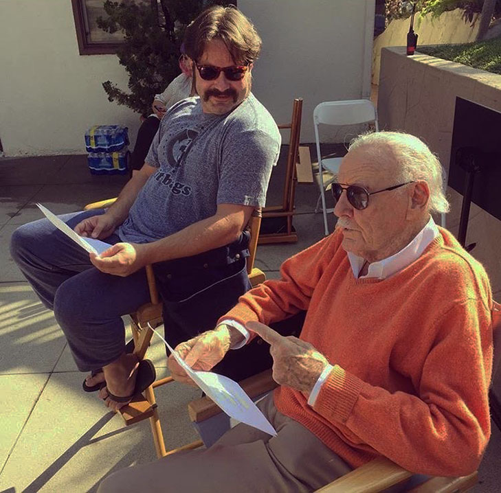Stan lee on set for madness in the method