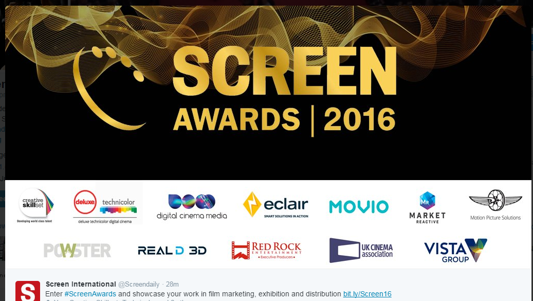 The Screen Awards Sponsored by Red Rock Entertainment.