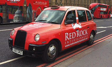 Red Rock Taxi Takes In the Sights, In London