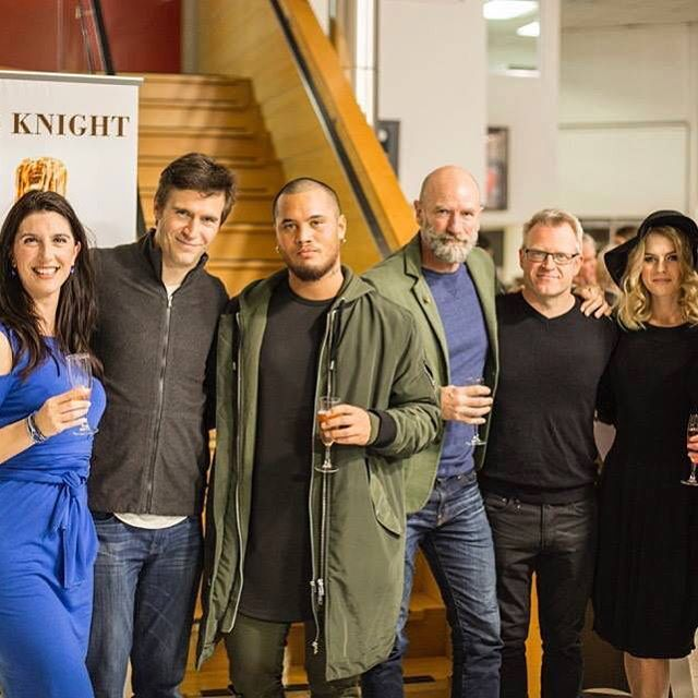From Left To Right:- Wrap Party Mikaela Maria Rose Rüegg. Emily Corcan, Jack Davenport, Stan Walker, Graham McTavish, Nial Johnson, Gillian Macgregor and Merryn Corcoran. Red Rock Entertainment.