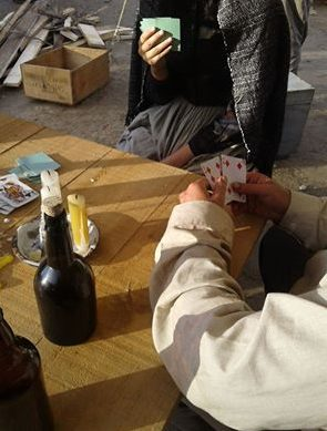 Gambling and Home Brew in Gold Town, The Stolen. Red Rock Entertainment.