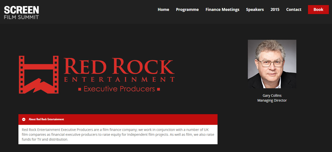 Gary Collins Speaker at Red Rock Entertainment.