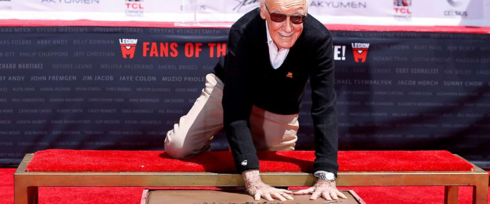 The Legend and Marvel Icon Stan Lee was honored  at Hollywood's famous TCL Chinese Theatre.