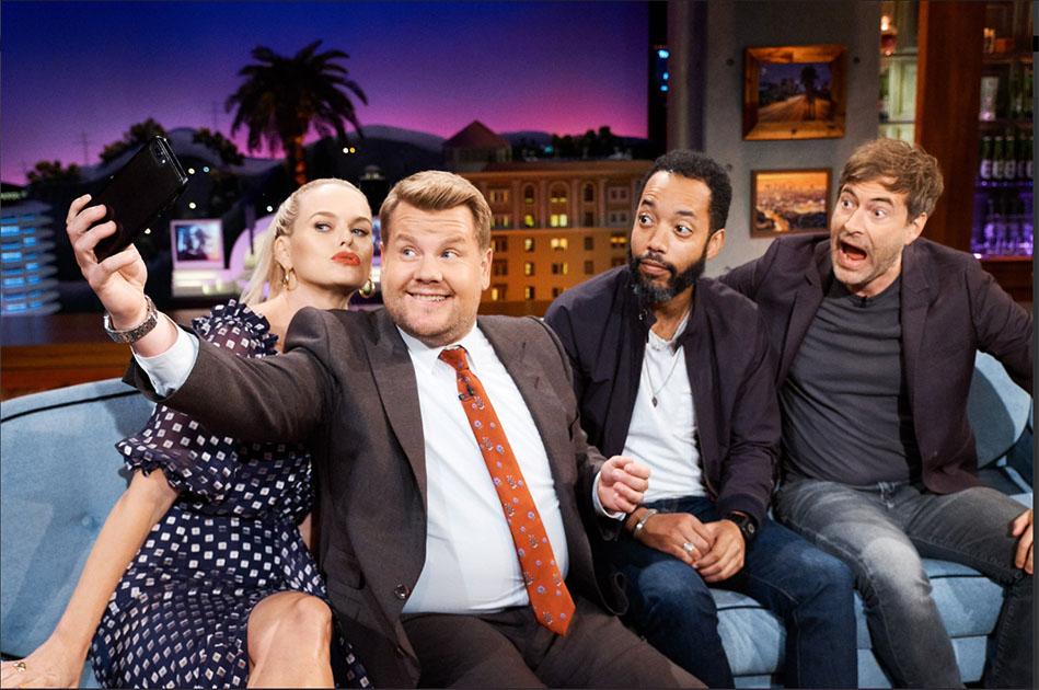 Alice Eve From the Stolen on The Late Late Show with James Corden.