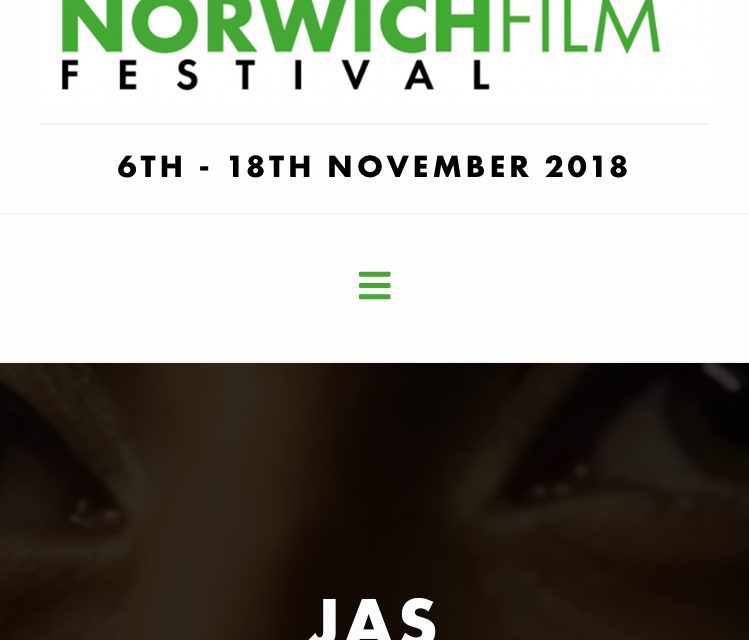 Jas Screens at The Norwich Film Festival.