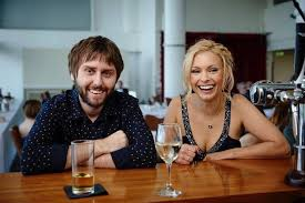 James Buckley On set with MyAnna Burin. Comedians Guide To Survival.
