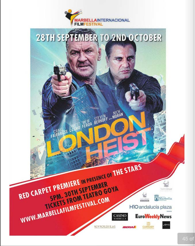 London Heist Premiere, Craig Fairbrass .