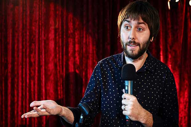 James Buckley, on stage The Comedian's Guide to Survival