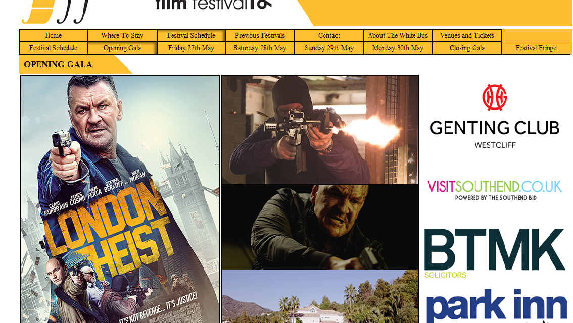 World Premiere of London Heist Opening the SouthEnd-On Sea Film Festival