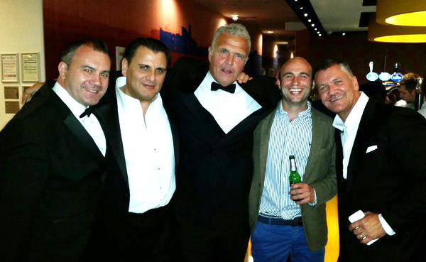 The cast of London Heist, Mem Ferda, Tony Denham, Craig Fairbrass