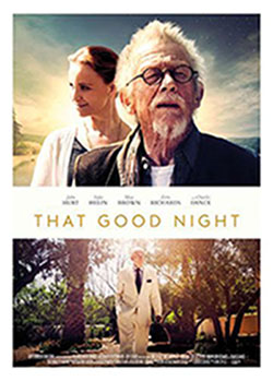 That good Night with Sir John Hurt with Executive Producer Gary Collins. Red Rock Entertainment.