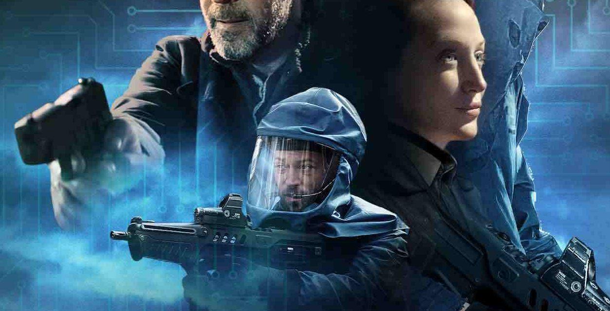 John Hannah, Olivia Grant and Warren Brown in British Sci-Fi Film Genesis.