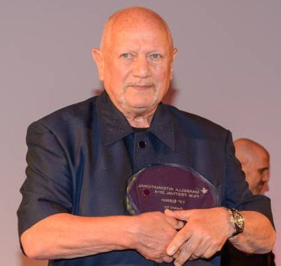 Steven Berkoff at Cheltenham International Film Festival.