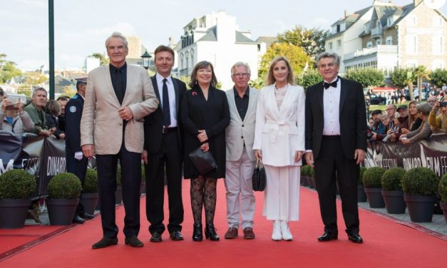 The Full cast of Brighton at the Dinard Film Festival.